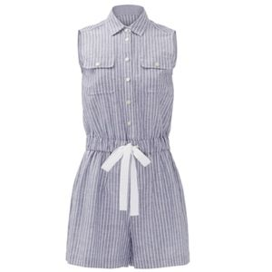 KATE SPADE Linen Cotton Stripe Romper - worn once!